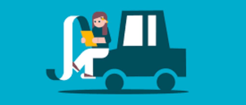 Mujer sentada en auto