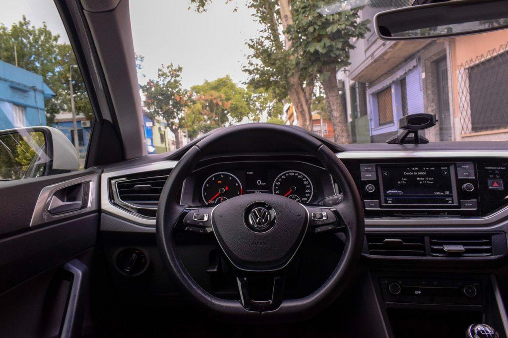 volante de un automóvil