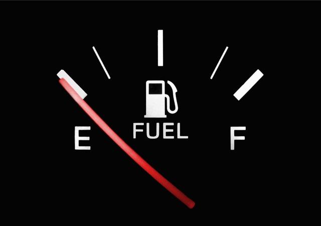 Tanque de gasolina vacío